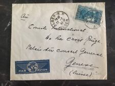 1941 Alger French Algeria To The Red Cross International Geneva Switzerland