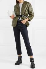 $695 - NILI LOTAN Varick Army Green Quilted Shell Kimono Jacket Size S