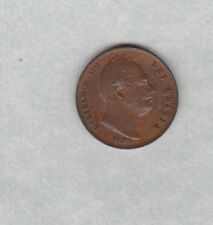 1835 WILLIAM IIII COPPER FARTHING IN VERY FINE CONDITION
