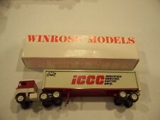 ICCC INTERSTATE CONTRACT CARRIER CORP TRACTOR TRAILER DIECAST WINROSS TRUCK
