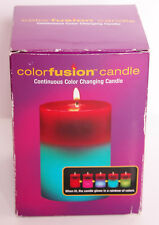 Colorfusion Continuous Color Changing Candle Unscented Red Top Light Show New