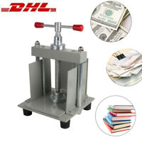 A4 Size Manual Flat Paper Press Machine for Nipping Checks Books Invoices Money