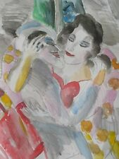 "SIGNED ORIGINAL Water Color by EARL LINDERMAN one of a kind 14 X 17"" Collectible"