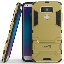 for LG G6 / G6 Plus Phone Case Armor Kickstand Slim Hard Cover Gold / Black