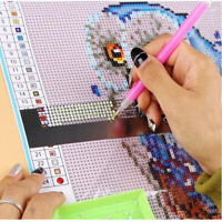 5D Diamond Painting Stainless Steel Ruler Blank Grids Round  Drill Tool D