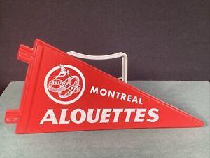 Vintage CFL Montreal Alouettes RARE Canadian Football League Pennant Plastic