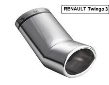 Auspuffblende Renault Twingo 3 III ab 2014 95x65mm.Edelstahl mit DEKRA Gutachten