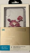 Speck Presidio CLEAR + PRINT CASE for iPhone XR-Embroidered Floral Fuchsia/Clear