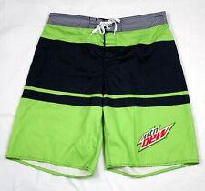 Mountain Dew Mens Swim Trunks Board Shorts Swimwear Surf Shorts Size 40-42