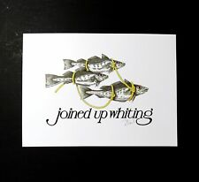 Joined Up Whiting Signed Simon Drew Fish Print Entertaining Art Large Quirky