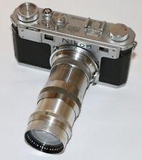 Carl Zeiss Jena Contax Pre War Sonnar 13.5cm f/4 For Contax & Nikon Germany 1939