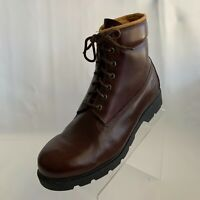 Timberland Vintage Mens Boots Classic Brown Leather Hiking/Work Lace Up Size 11M