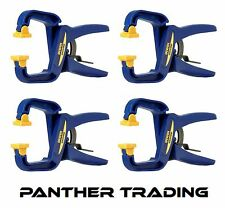 "4 X IRWIN Quick-Grip Joiners Handy Clamp 38mm 1.1/2"" Hand Ratchet Speed Sash"