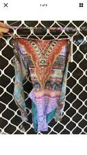 Camilla Kaylana Tie Front Bandeau One piece Swimsuit Size 10 1 Small $4 EXPRESS