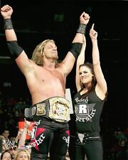 "LITA WWE PHOTO 8x10"" OFFICIAL WRESTLING PROMO WITH EDGE WWE SPINNER BELT"