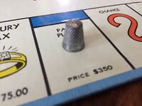 Monopoly 1961 Parker Brothers Replacement Token Part Thimble