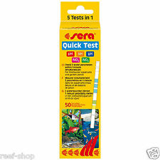 Sera Quick Test 50 Freshwater 5 in 1 Test Strips Aquarium Water Test Fast Easy