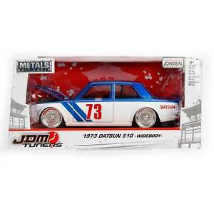 1:24 JADA toys JDM Turners - 1973 Datsun 510 Widebody - BLUE