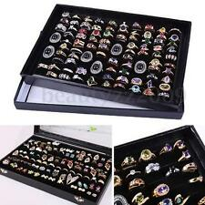 100 Slots Ring Storage Earring Pin Jewelry Organizer Holder Case Display Box New