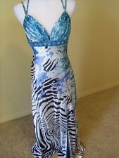 NWOT Sean Collection gown, size M, multicolored patterned