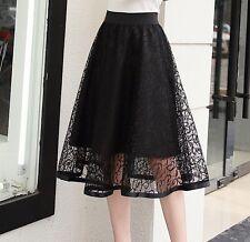 Gonna Estiva Pizzo Donna in 6 Colori Tinta Unita - Woman Lace Skirt 130035 P