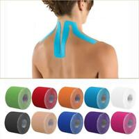 Athletic Tape Elastic Exercise Sport Football Strap Knee Muscle Kinesiology Roll