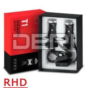 2X H4 9003 HB2 Mini Bi-LED Projector LED Headlight Lens Hi-Low Retrofit 40W RHD