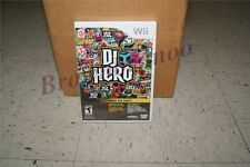 DJ Hero Start The Party Game Only Wii NEW SEALED