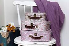 3 X Vintage Floral Suitcase Bedroom Storage From Sass & Belle