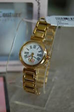 Plated Watch+ Tin Gift Box! New Nib Auth Juicy Couture Ladies Petula Gold