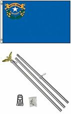 3x5 State of Nevada Flag Aluminum Pole Kit Set 3'x5'