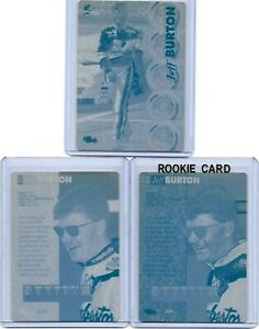 LOT OF 3 JEFF BURTON 1 OF 1 1995 CLASSIC 5 SPORT PRINTING PLATES MONSTER CUP 1/1
