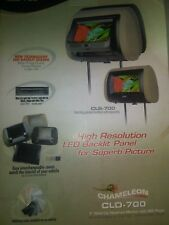 """Chameleon CLD-700 7"""" wide car headrest monitor with disc player"""
