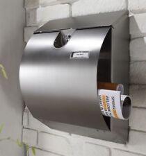 großer Briefkasten aus Edelstahl Postkasten Wandbriefkasten mit Zeitungsfach G**