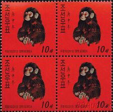 Briefmarken mit Affen aus China
