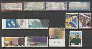 Malta Stamps 6 Fine Mint Sets