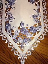65 inch Delft Blue Onion Table Runner
