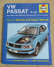 VW VOLKSWAGEN PASSAT 4-CYL HAYNES MANUAL P to X REGISTRATION 1996 to 2000