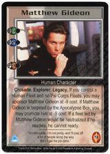 Babylon 5 CCG Crusade Rare R1 Card Matthew Gideon Blue/Black Uniform M/NM Mint/N