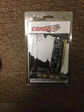 Condor MP6202C-5L PCI USB 2.0 expansion card x4 external x1 internal PCI bridge