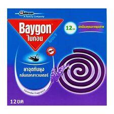 Baygon Anti Mosquito Repellent Lavender Fragrance Scent 12 Coils FreeShip