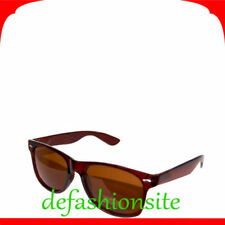 Occhiali da sole da donna senza marca con montatura in marrone tecnologia lenti antiriflesso