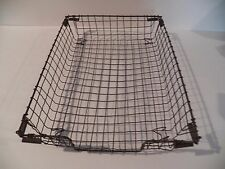 Vintage Wire Metal Desk Basket Paper Tray  In / Out Files / Letter