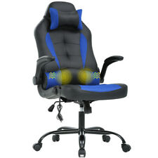 Silla Gaming Oficina Racing Videojuegos Sillon Gamer Masaje Azul Reacondicionado