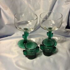 2 Cactus MARGARITA GLASSES only in excellent condition! SHOT GASSES SOLD green