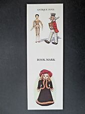 Vintage BOOKMARK ANTIQUE TOYS Dolls Sunny Jim Rag Doll Wooden C Humby 1980