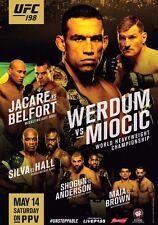 UFC 198 POSTER Werdum & Miocic Jacare & Belfort, Anderson Silva & Hall 18X24