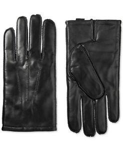 Isotoner Signature Men's Black ThermaFlex Leather Gloves Large
