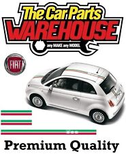 ⭐ Car Graphic Stripe Fiat 500 Italian Flag Roof / Bonnet / Boot Sticker Decal ⭐