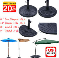 "18""19""20""Outdoor Patio Offset Umbrella Base Stand Heavy Resin Beton Base Stand"